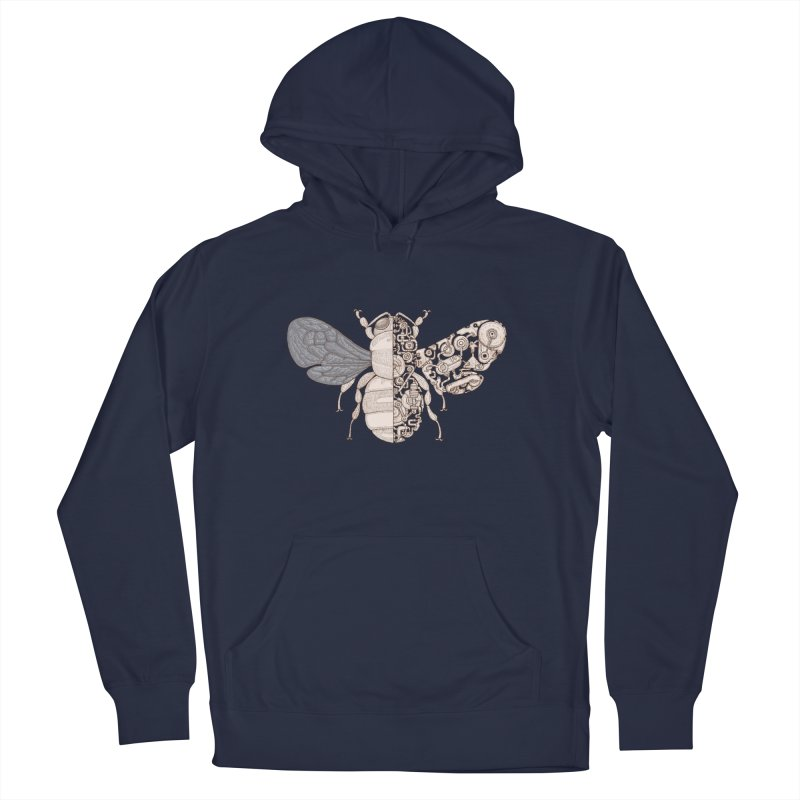 Bee sci-fi Men's French Terry Pullover Hoody by makapa's Artist Shop