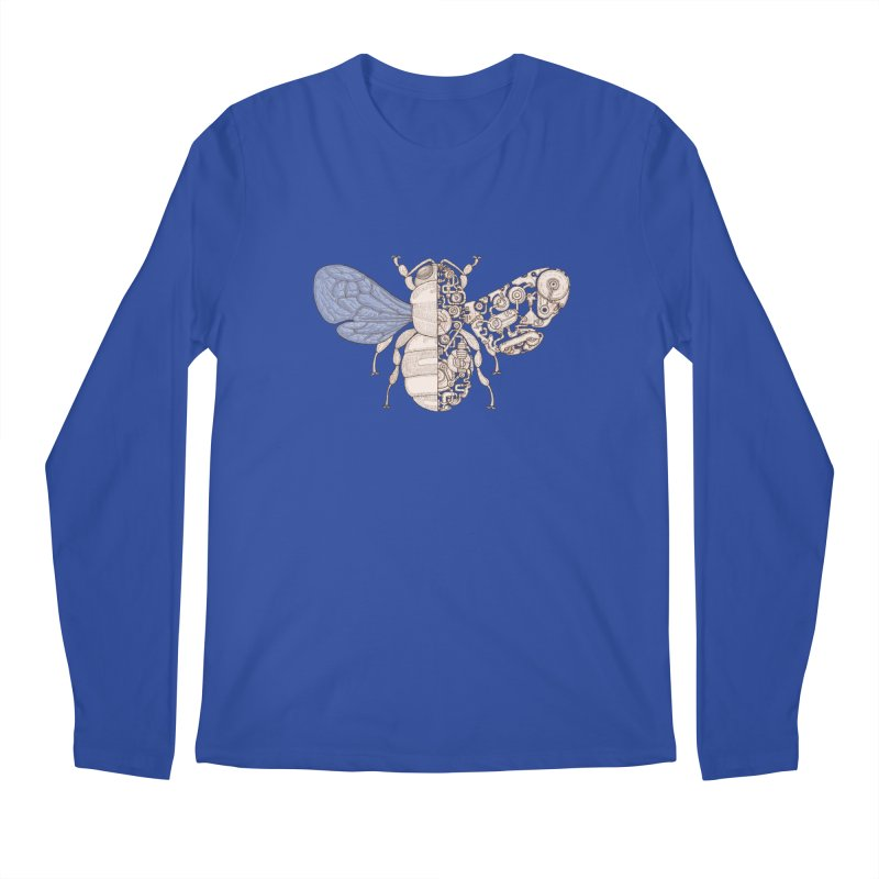Bee sci-fi Men's Regular Longsleeve T-Shirt by makapa's Artist Shop