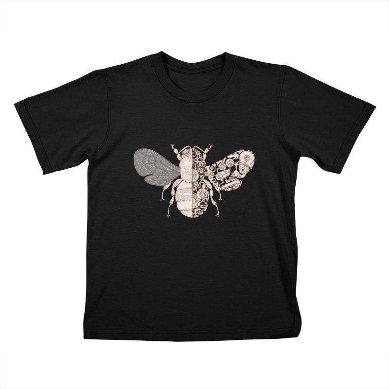 Bee sci-fi Kids T-Shirt by makapa's Artist Shop