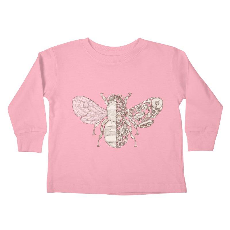 Bee sci-fi Kids Toddler Longsleeve T-Shirt by makapa's Artist Shop