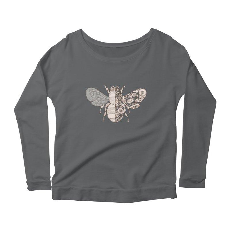 Bee sci-fi Women's Scoop Neck Longsleeve T-Shirt by makapa's Artist Shop