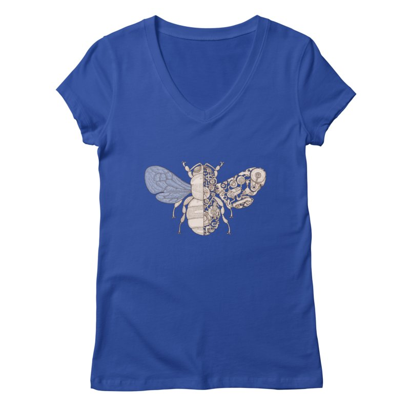 Bee sci-fi Women's Regular V-Neck by makapa's Artist Shop