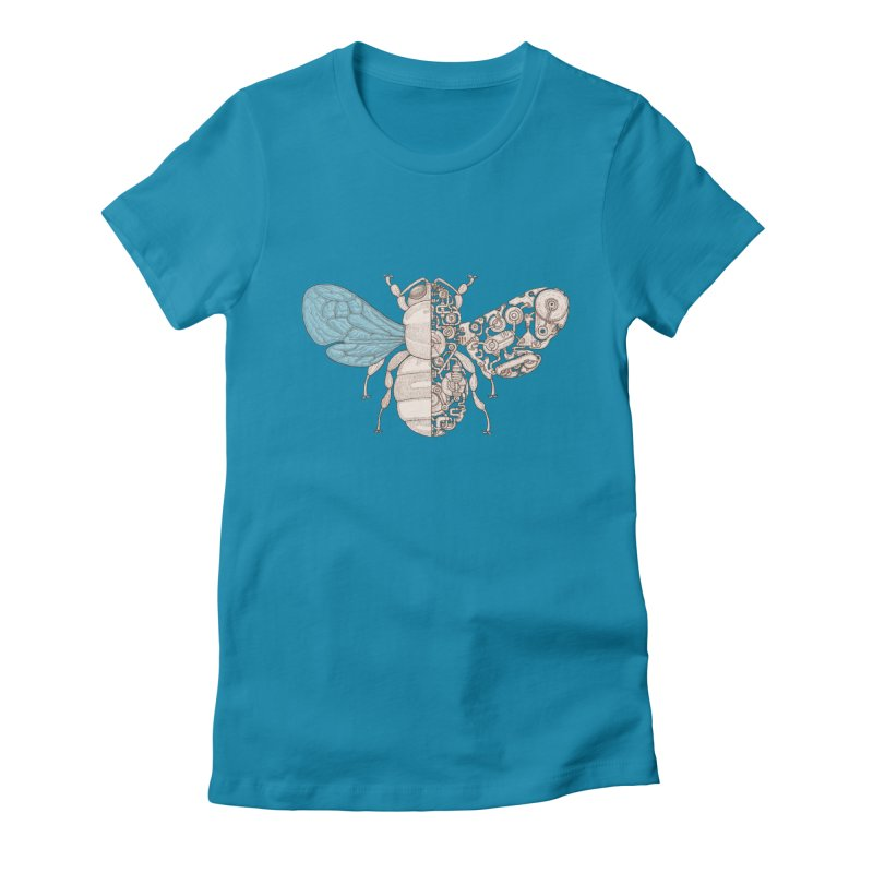 Bee sci-fi Women's Fitted T-Shirt by makapa's Artist Shop