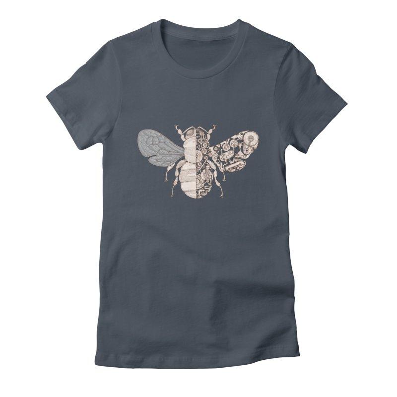 Bee sci-fi Women's Fitted T-Shirt by makapa's Artist Shop