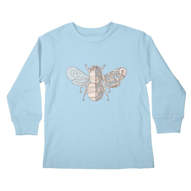 Bee sci-fi Kids Longsleeve T-Shirt by makapa's Artist Shop