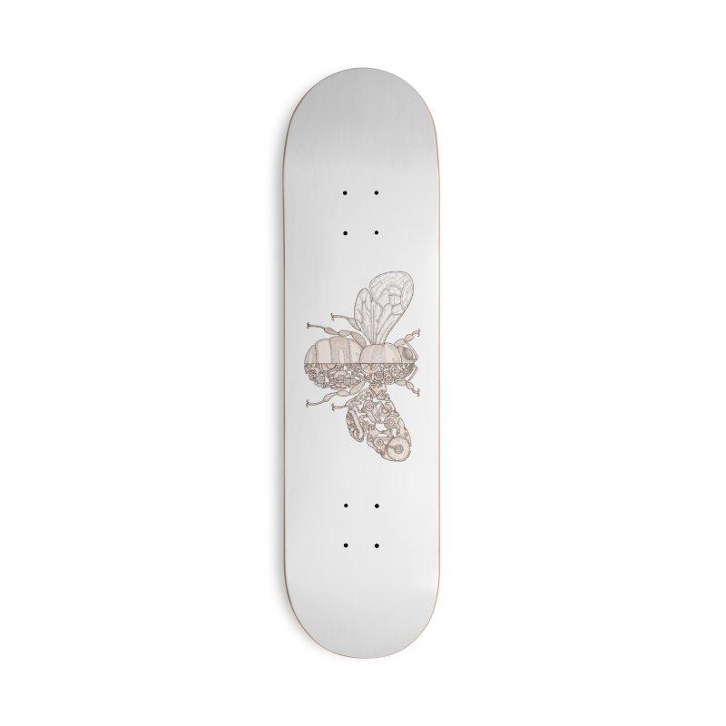Bee sci-fi Accessories Deck Only Skateboard by makapa's Artist Shop