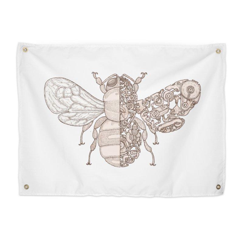 Bee sci-fi Home Tapestry by makapa's Artist Shop