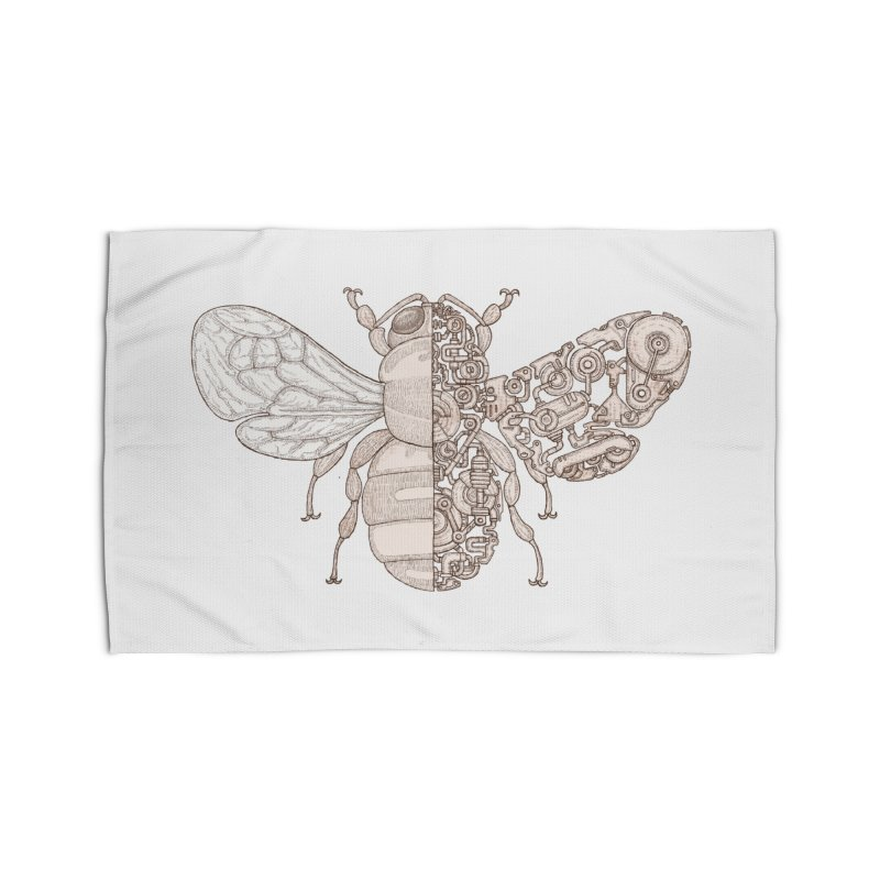 Bee sci-fi Home Rug by makapa's Artist Shop