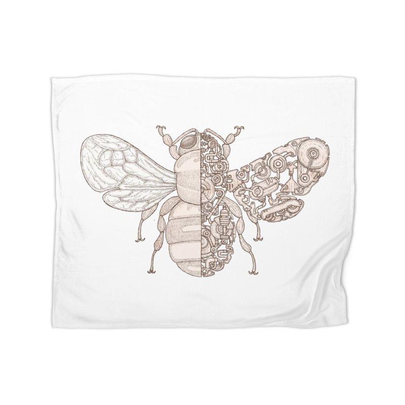 Bee sci-fi Home Fleece Blanket Blanket by makapa's Artist Shop