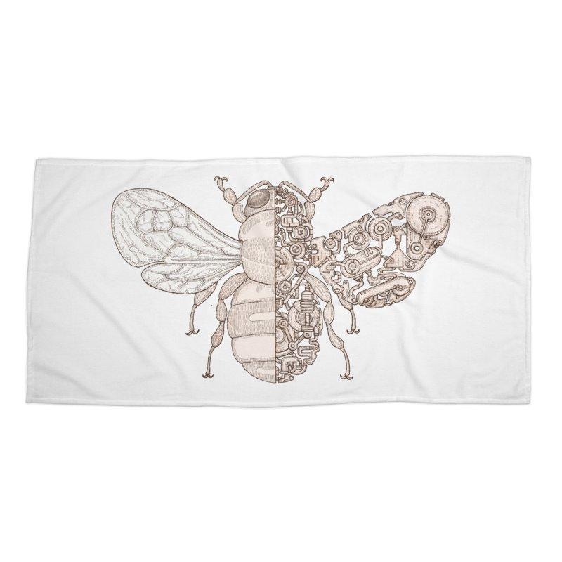 Bee sci-fi Accessories Beach Towel by makapa's Artist Shop