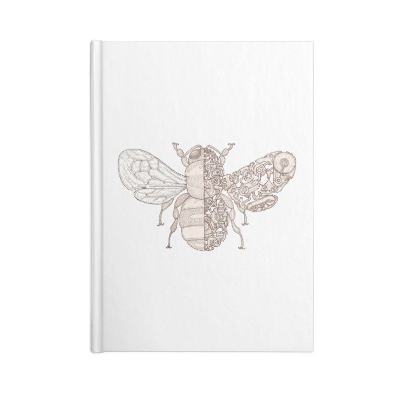 Bee sci-fi Accessories Lined Journal Notebook by makapa's Artist Shop