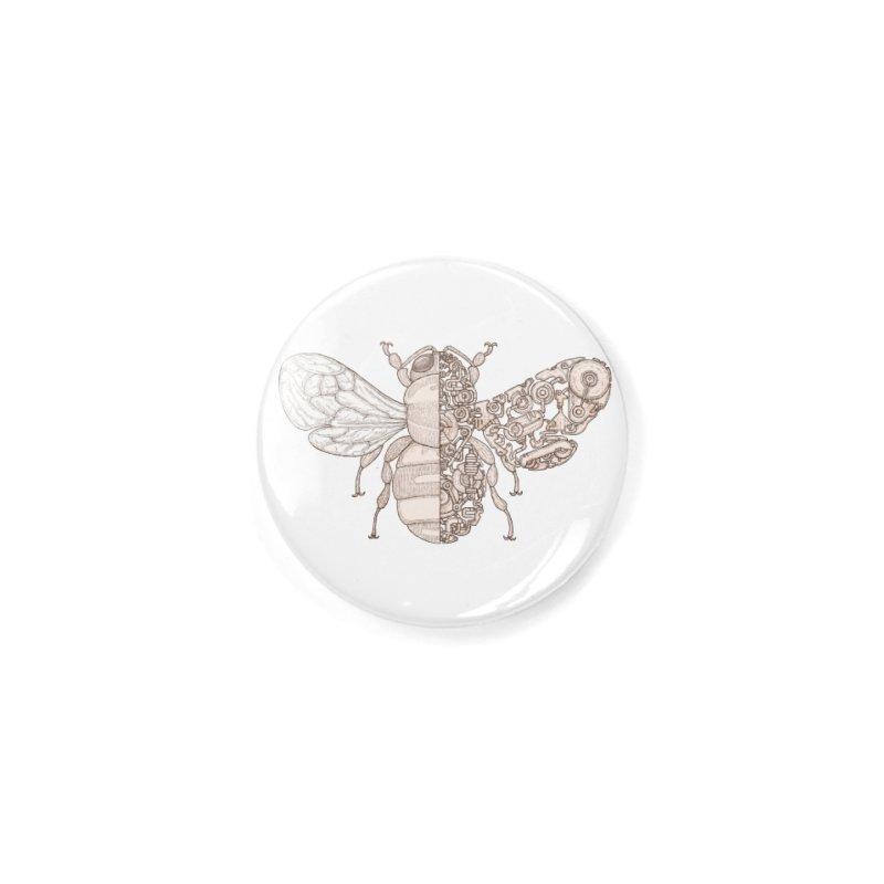Bee sci-fi Accessories Button by makapa's Artist Shop