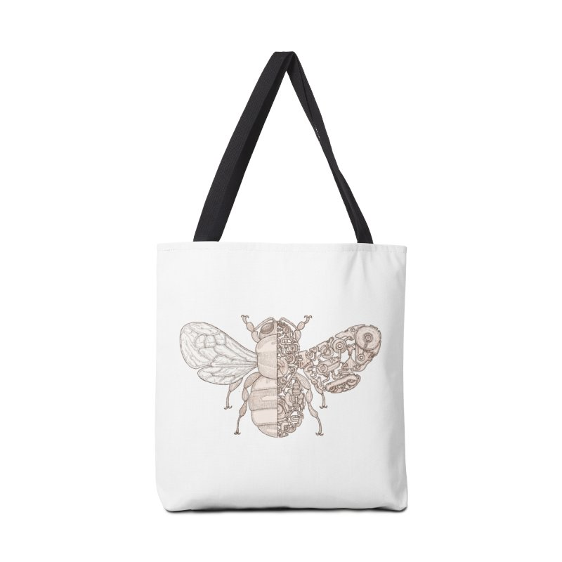 Bee sci-fi Accessories Tote Bag Bag by makapa's Artist Shop