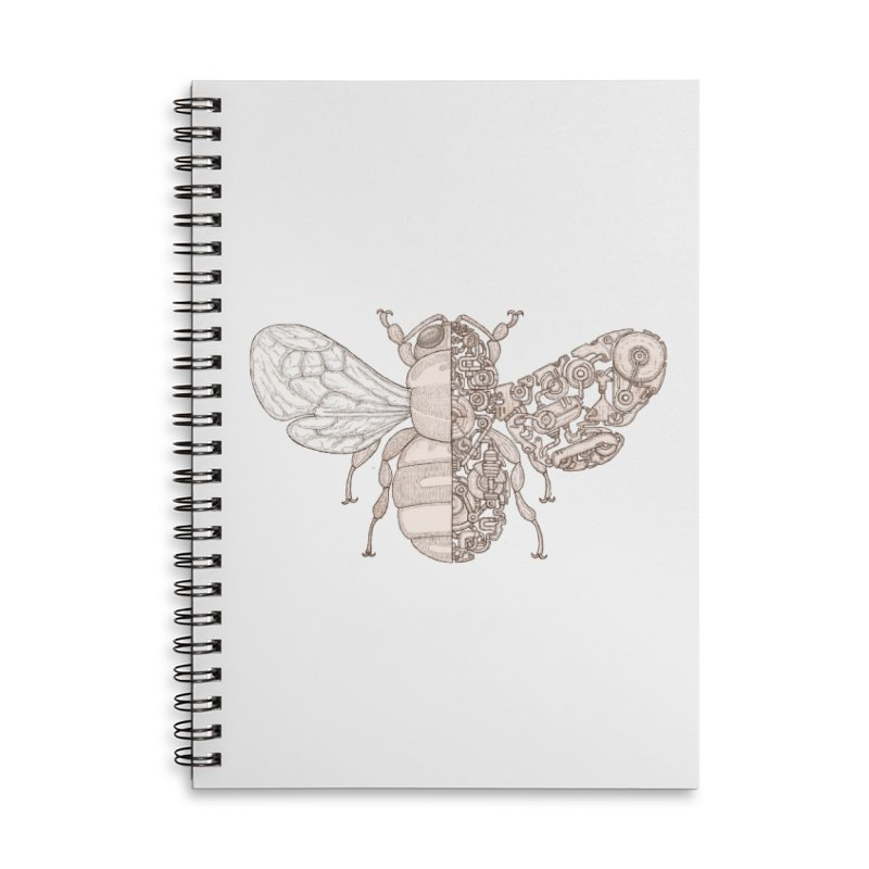 Bee sci-fi Accessories Lined Spiral Notebook by makapa's Artist Shop