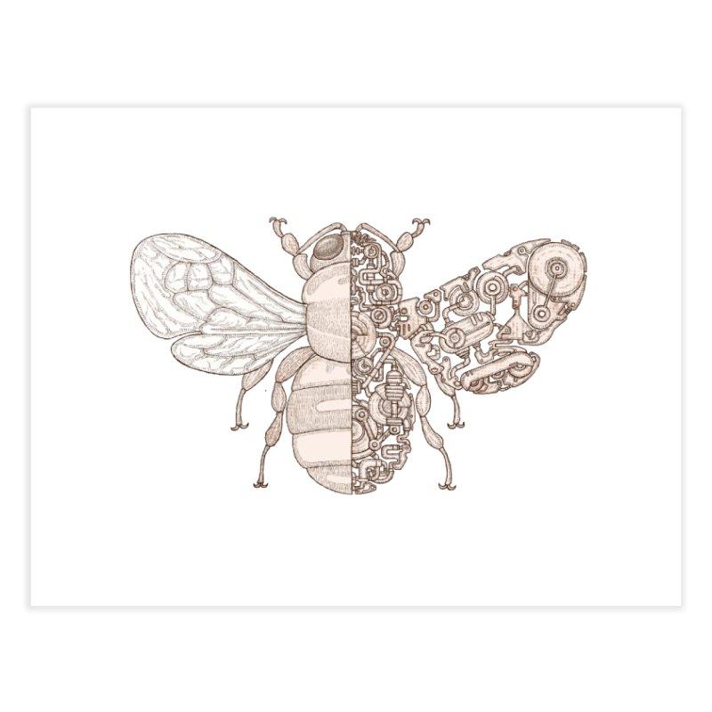 Bee sci-fi Home Fine Art Print by makapa's Artist Shop