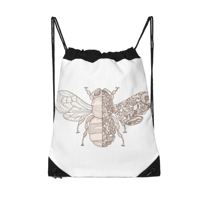 Bee sci-fi Accessories Drawstring Bag Bag by makapa's Artist Shop