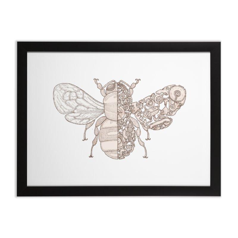 Bee sci-fi Home Framed Fine Art Print by makapa's Artist Shop