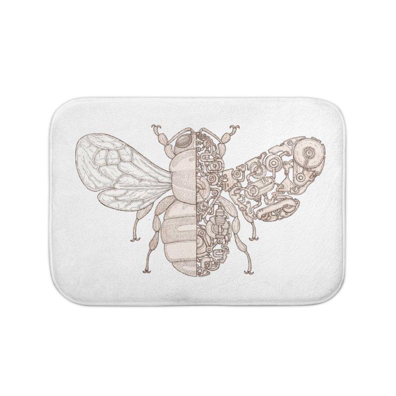 Bee sci-fi Home Bath Mat by makapa's Artist Shop