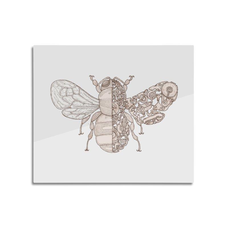 Bee sci-fi Home Mounted Acrylic Print by makapa's Artist Shop