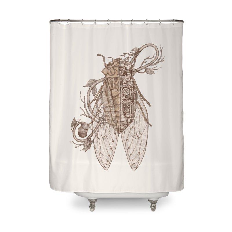 Anatomy of cicada Home Shower Curtain by makapa's Artist Shop