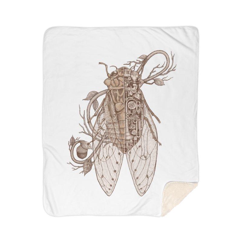 Anatomy of cicada Home Sherpa Blanket Blanket by makapa's Artist Shop