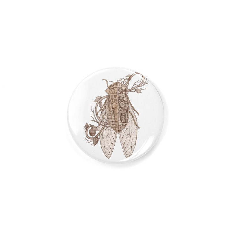 Anatomy of cicada Accessories Button by makapa's Artist Shop