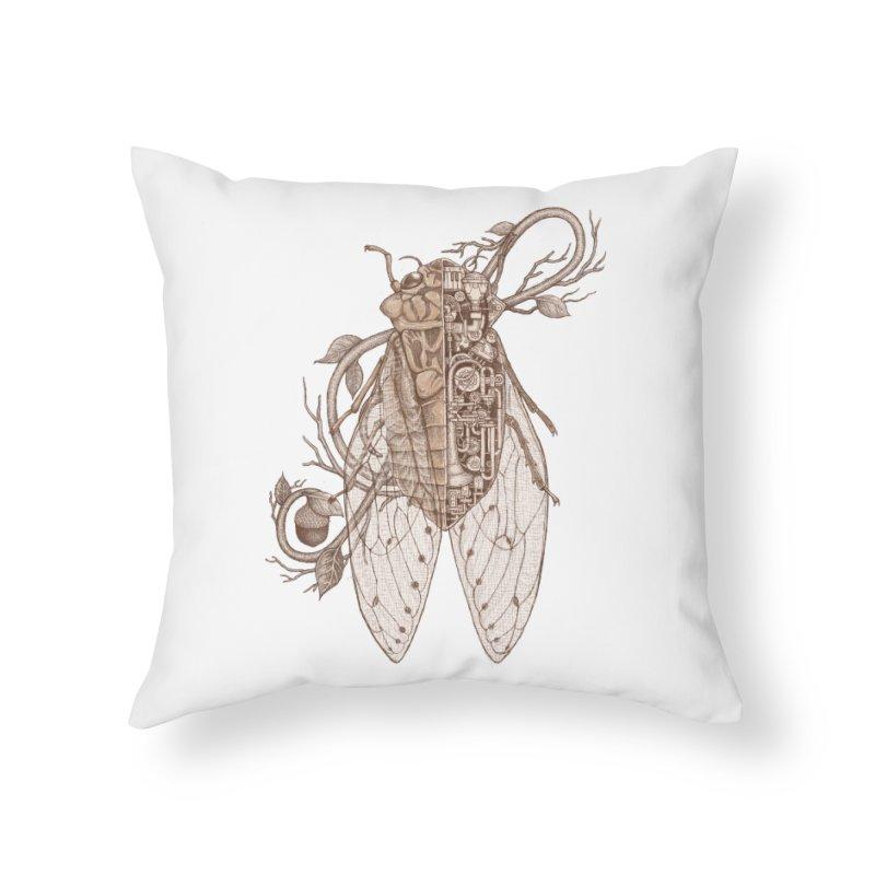 Anatomy of cicada Home Throw Pillow by makapa's Artist Shop