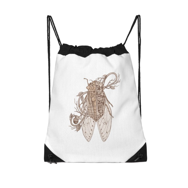 Anatomy of cicada Accessories Drawstring Bag Bag by makapa's Artist Shop