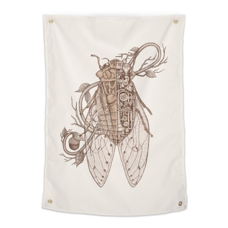 Anatomy of cicada Home Tapestry by makapa's Artist Shop