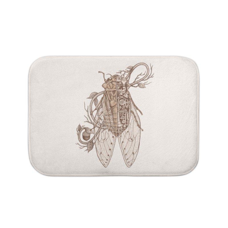 Anatomy of cicada Home Bath Mat by makapa's Artist Shop
