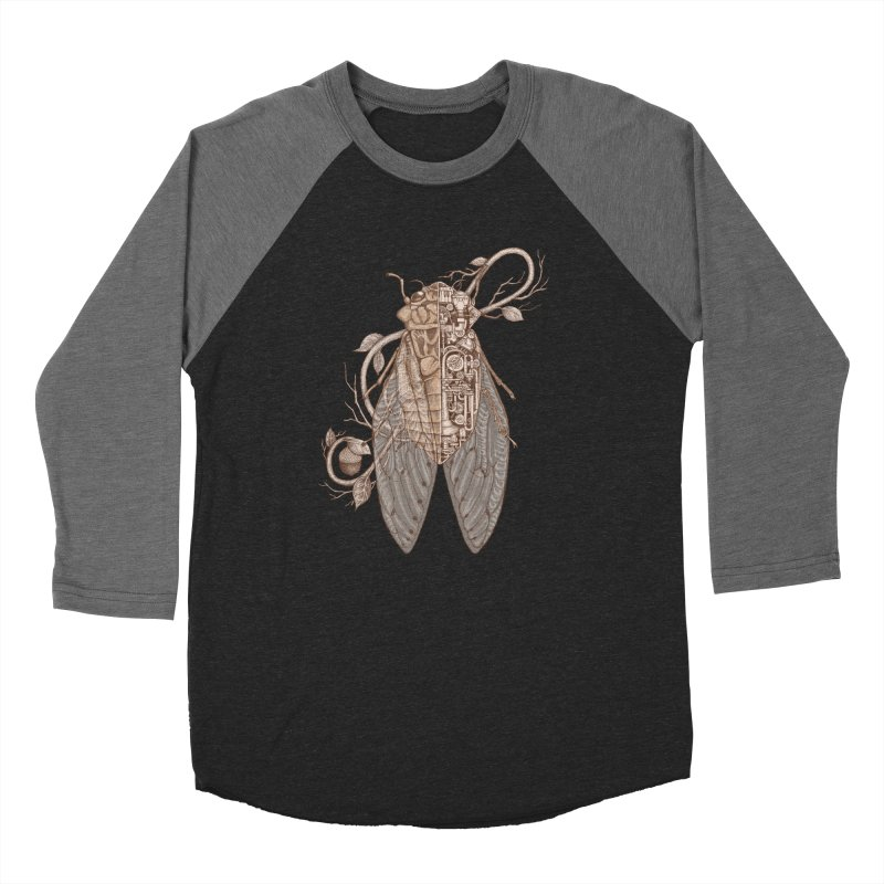 Anatomy of cicada Women's Baseball Triblend Longsleeve T-Shirt by makapa's Artist Shop