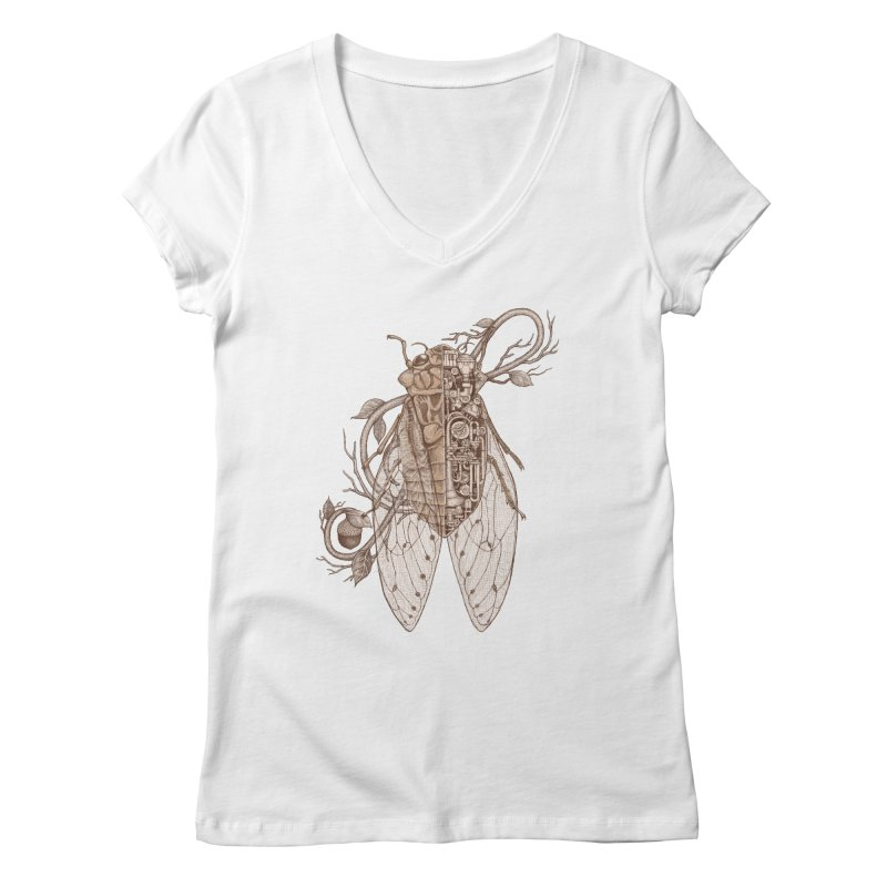 Anatomy of cicada Women's Regular V-Neck by makapa's Artist Shop