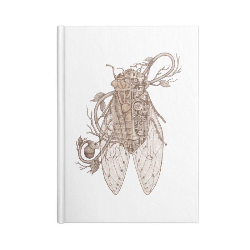 Anatomy of cicada Accessories Blank Journal Notebook by makapa's Artist Shop