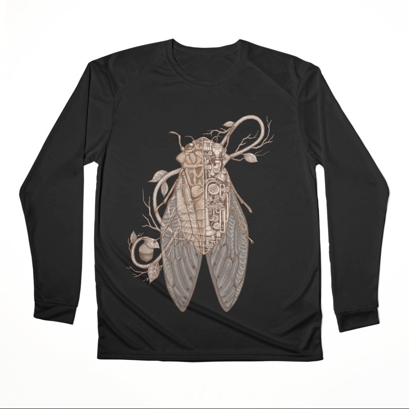 Anatomy of cicada Women's Performance Unisex Longsleeve T-Shirt by makapa's Artist Shop
