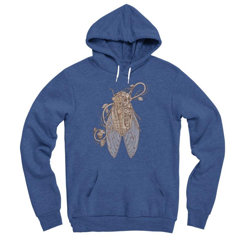 Anatomy of cicada Men's Sponge Fleece Pullover Hoody by makapa's Artist Shop