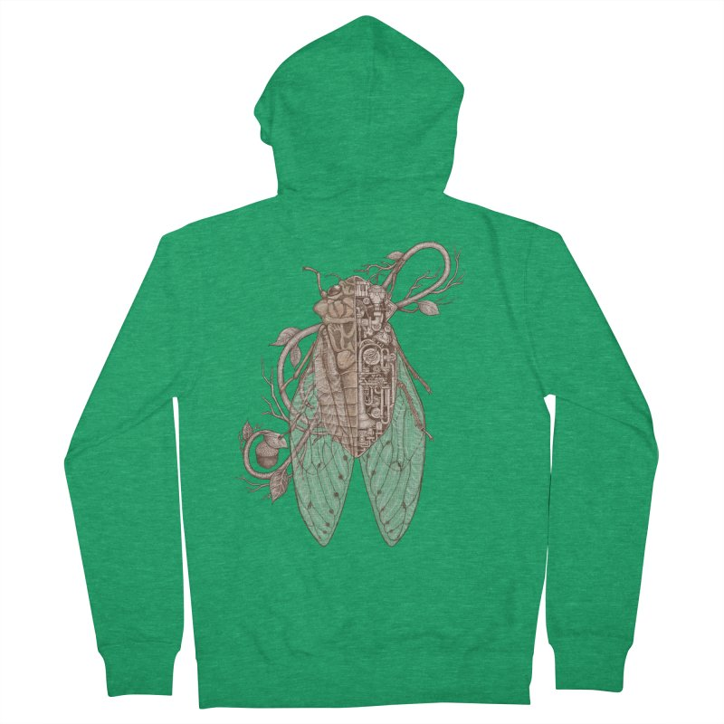 Anatomy of cicada Men's French Terry Zip-Up Hoody by makapa's Artist Shop