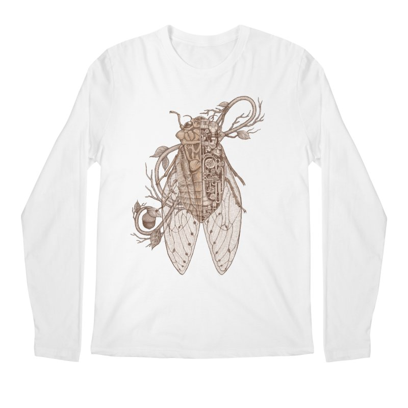 Anatomy of cicada Men's Regular Longsleeve T-Shirt by makapa's Artist Shop
