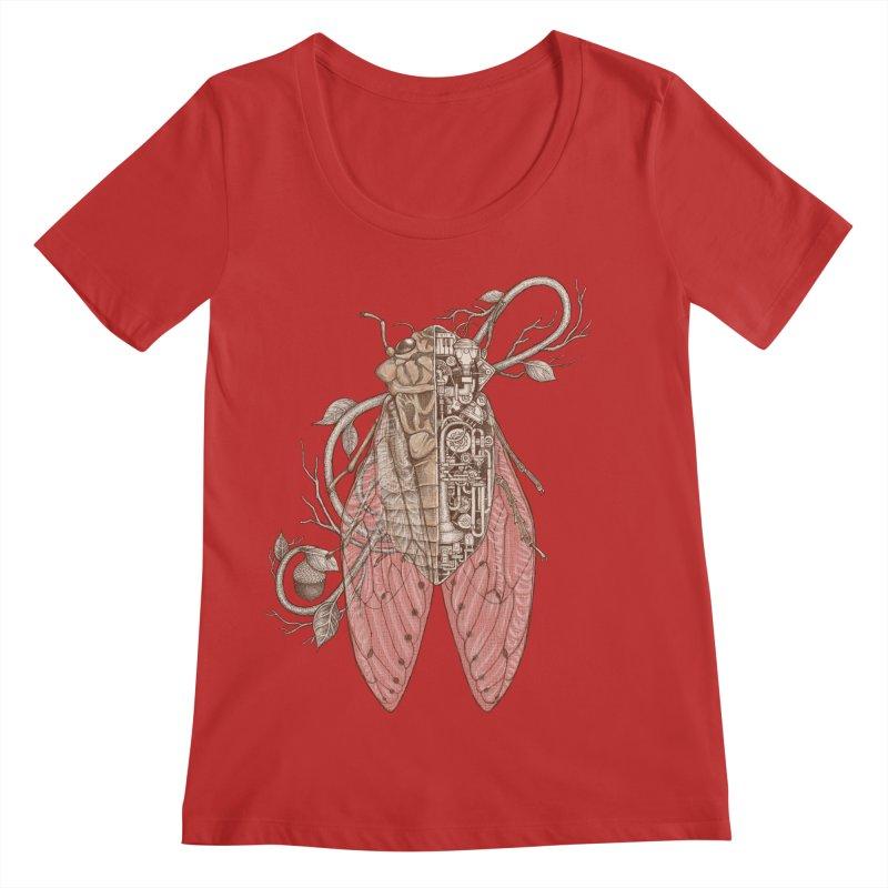 Anatomy of cicada Women's Regular Scoop Neck by makapa's Artist Shop