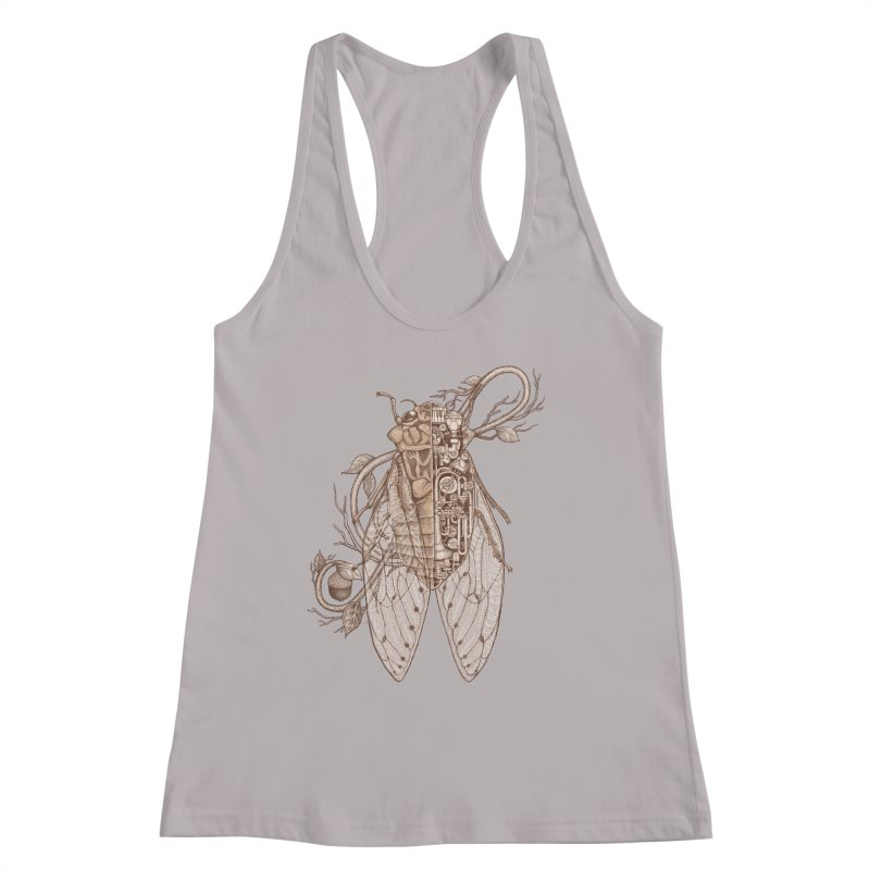 Anatomy of cicada Women's Racerback Tank by makapa's Artist Shop