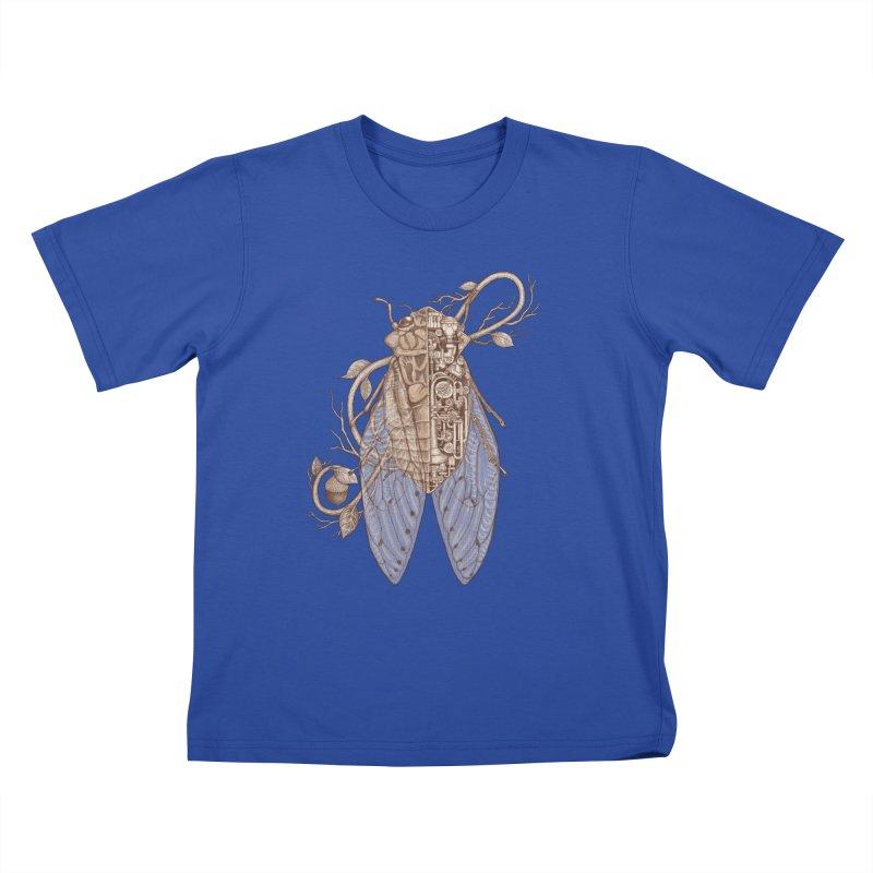Anatomy of cicada Kids T-Shirt by makapa's Artist Shop