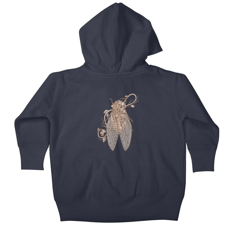 Anatomy of cicada Kids Baby Zip-Up Hoody by makapa's Artist Shop