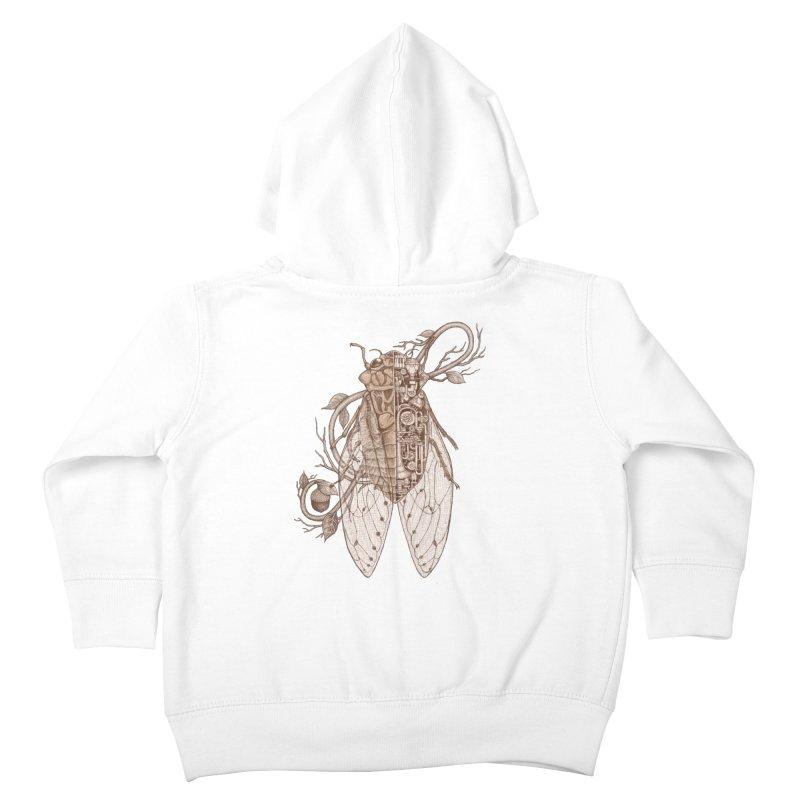 Anatomy of cicada Kids Toddler Zip-Up Hoody by makapa's Artist Shop
