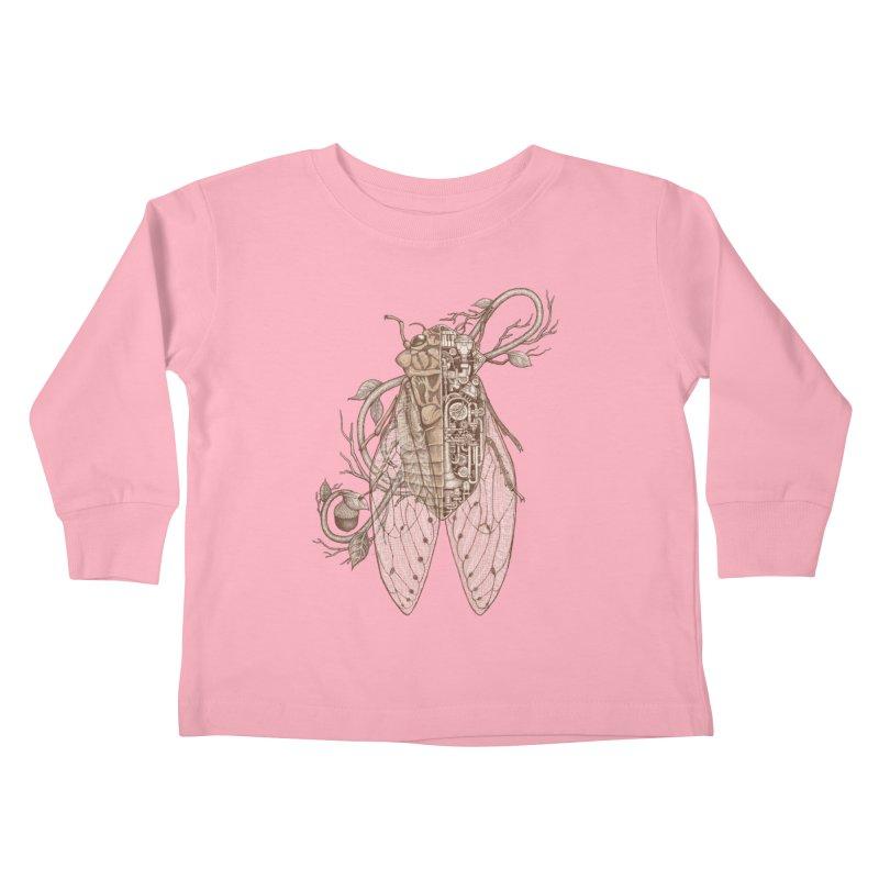 Anatomy of cicada Kids Toddler Longsleeve T-Shirt by makapa's Artist Shop