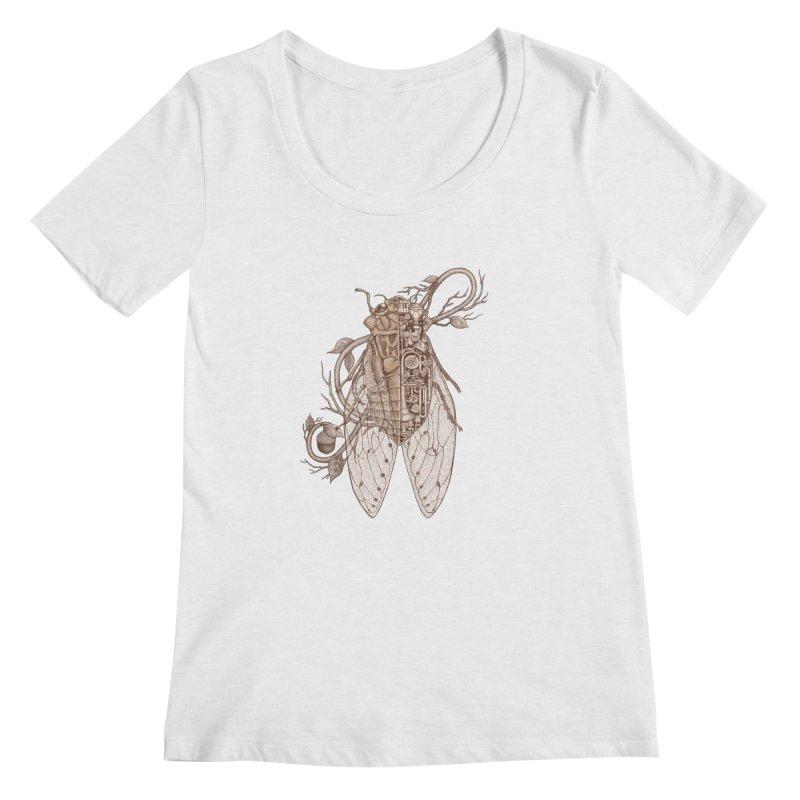 Anatomy of cicada Women's Scoop Neck by makapa's Artist Shop