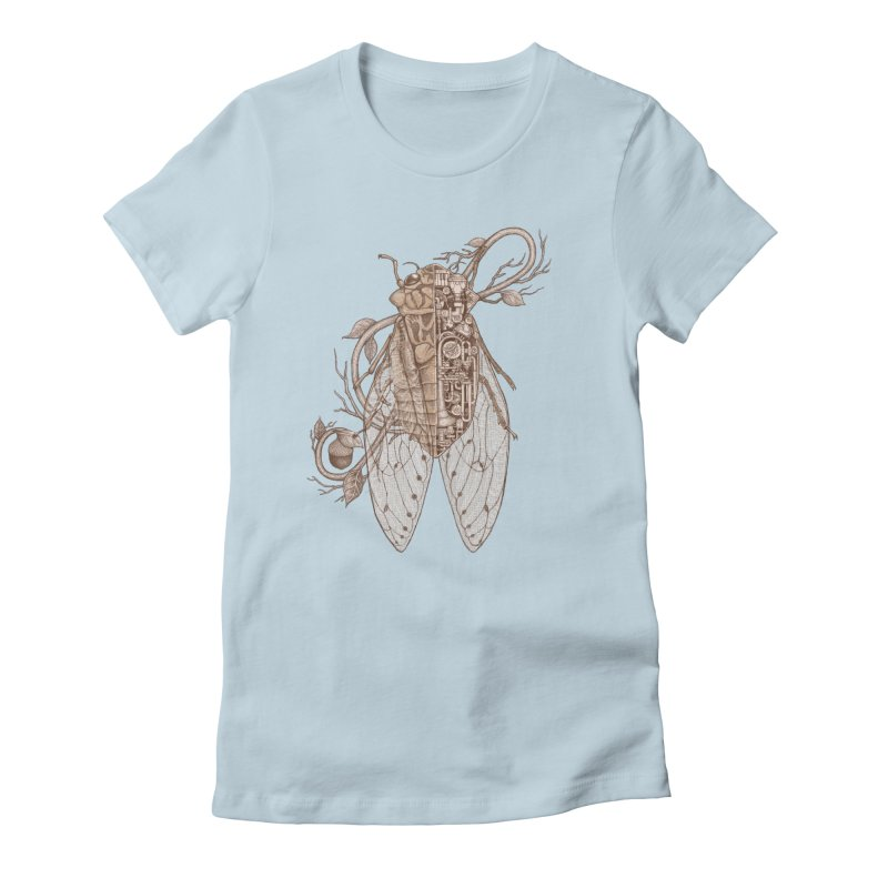 Anatomy of cicada Women's Fitted T-Shirt by makapa's Artist Shop