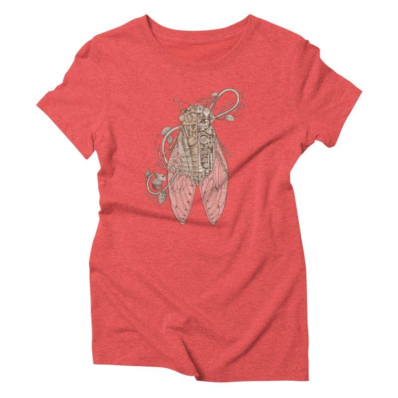 Anatomy of cicada Women's Triblend T-Shirt by makapa's Artist Shop