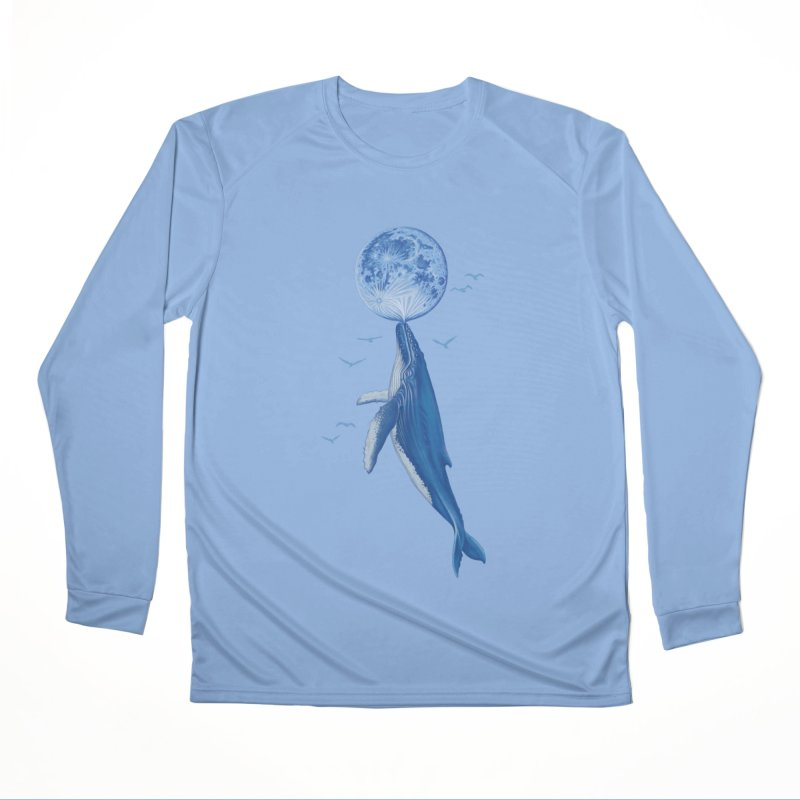 Blue surrealism Women's Performance Unisex Longsleeve T-Shirt by makapa's Artist Shop