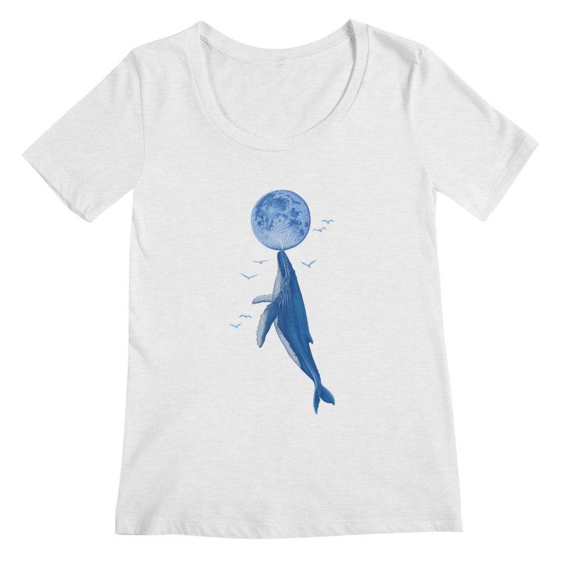 Blue surrealism Women's Regular Scoop Neck by makapa's Artist Shop