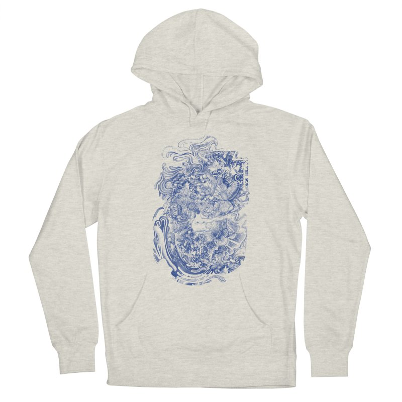 Dream on dream Men's French Terry Pullover Hoody by makapa's Artist Shop