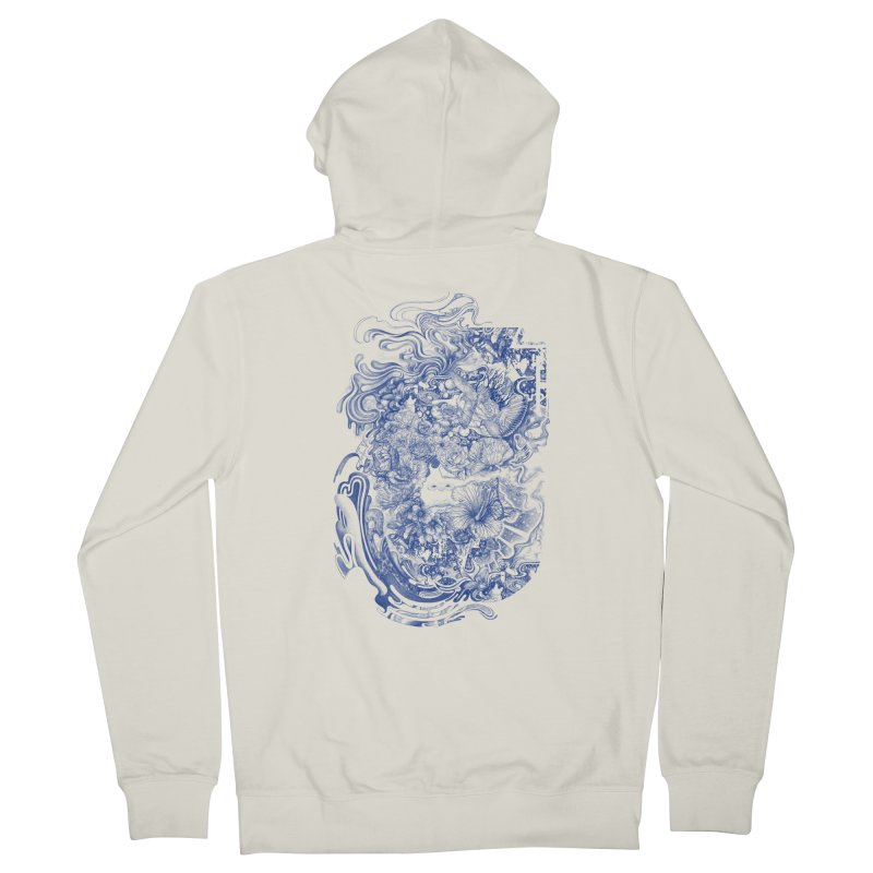 Dream on dream Women's French Terry Zip-Up Hoody by makapa's Artist Shop